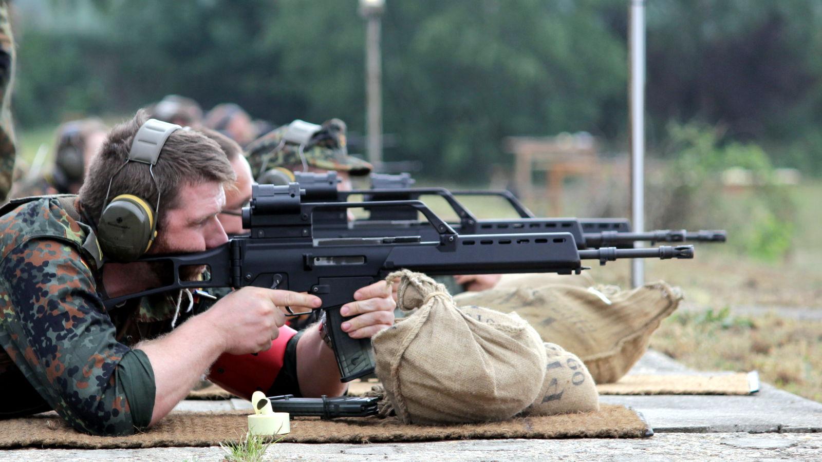 Schießen mit dem Gewehr G36