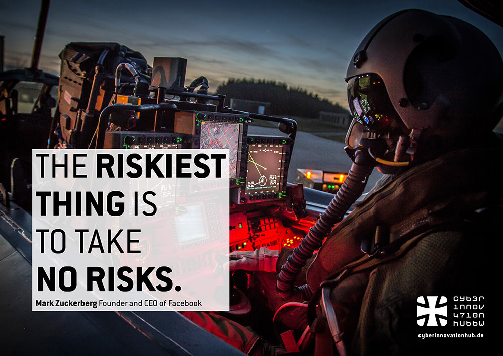 The Riskiest Thing Is To Take No Risks.